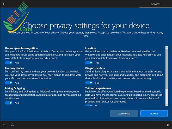 13win10 privacy
