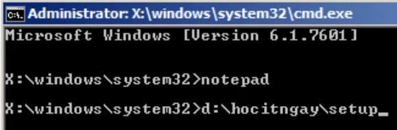 cmd win7 install