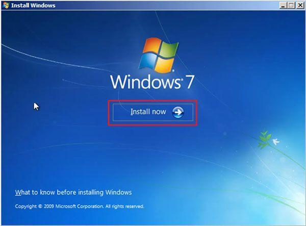 install now win7