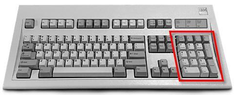 traditional numeric keypad