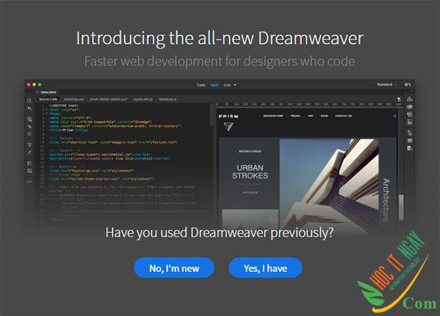 Tải Adobe Dreamweaver 2021 miễn phí