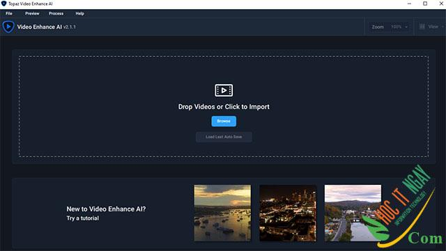 Tải Topaz Video Enhance AI miễn phí