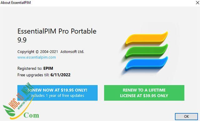 Tải EssentialPIM Pro miễn phí