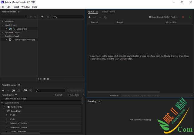 Tải Adobe Media Encoder CC 2018 miễn phí