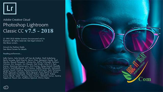 Tải Adobe Photoshop Lightroom Classic CC 2018 v7.5